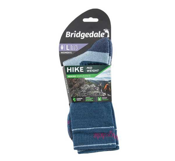 Skarpety damskie Bridgedale Hike Mid Merino E blue sky
